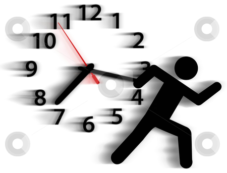 Person symbol run time race against clock
